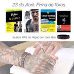 [:es]Firma de libros el día de Sant Jordi !![:]